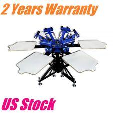 US Stock, 6 Color 6 Station Manual Screen Printing Machine Silk Screen Printing
