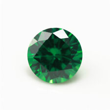 10mm 5.28ct Natural Mined Green Emerald Round Cut VVS Loose Gemstone