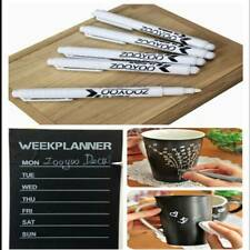 3Pcs White Liquid Chalk Pens/Marker For Glass Windows Chalkboard Blackboard NEW