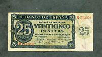 BILLETE 25 PESETAS 1936  H1392098 EBC  - EBC
