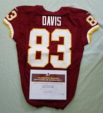 #83 Fred Davis of Redskins NFL Game Used & Unwashed Jersey vs. Chiefs WCOA