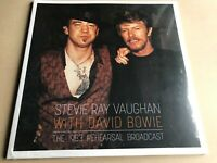 THE 1983 REHEARSAL BROADCAST  by DAVID BOWIE & STEVIE RAY VAUGHAN 2 x vinyl lp