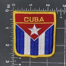 Republic of Cuba National Country Flag Patch Shield Crest Ensign Havana Cuban