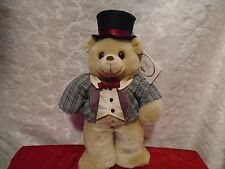Russ Bear Caress Soft Pets Top Hat Bear Coat With Tails W/ Tags