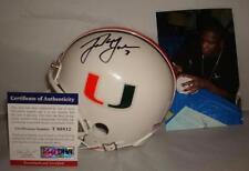Frank Gore signed Miami Hurricanes mini helmet - PSA/DNA Authentic - Star Runner