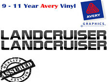 LANDCRUISER small side decals 700mm long in black