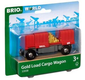 33938 BRIO Cargo Wagon with Gold Load Train Railway Rolling Stock Railway 3yrs+