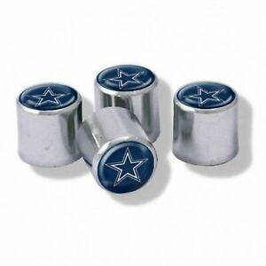 NEW Dallas Cowboys Football Chrome Tire Valve Stem Caps w/ Team Colors - 4PC