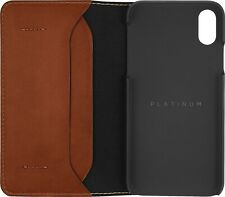 Platinum - Leather Folio Wallet Case for Apple iPhone X and XS - Papaya