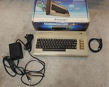 Commodore 64 Computer in Original Box w/ Cables Tested - Works