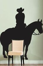 """Vinyl Wall Decal Sticker Cowboy Horse 72""""x59"""" 6ft Tall"""