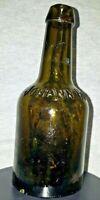Johann Hoff Embossed Bottle  Amber/Green Berlin