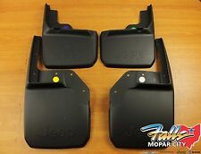 07-18 Jeep Wrangler JK Front & Rear Deluxe Molded Splash Guards Mud Flaps Mopar