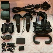 HTC Vive (Near Full Kit Included) Controllers, Straps, Sensors, Headset, Cables