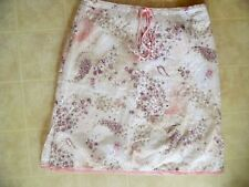 Exact Change Womens Skirt Size 9 Light Cotton Blend Embroidered Floral