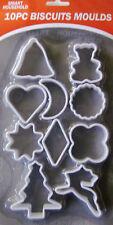 10PC Cookie Cutter Set Inc Pudsey Oso De Peluche Para Hombre pastelería Navidad Navidad biscut