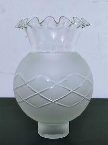 Boccia Lampadari ricambi di vetro bianco Campane per lampade Lumi Vintage