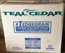 "18"" Cedar Shingle Shakes Primed Grooved Sidewall Shakes Certigroove Shingles"