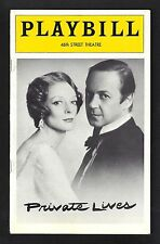"""Maggie Smith """"PRIVATE LIVES"""" John Standing / Noel Coward 1975 Broadway Playbill"""