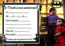 5 cartes invitation anniversaire  Lego Batman 02   d'autres en vente !!