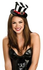 Mini Top Hat Mad Hatter Alice Wonderland Queen of Hearts Black White Headband