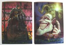 1996 CHROMIUM CHASE SET (2) Skybox Batman Master Series - Joker