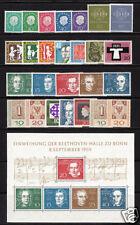 Bund 1959 mit Block 2 und Blockmarken komplett postfrisch einwandfrei