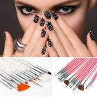 15 Pcs Nail Art Acrylic UV Gel Design Brush Set Painting Pen Tips Tools kit GUT