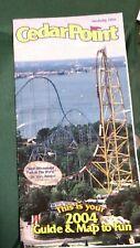2004 Cedar Point Park Amusement Park Fun Guide & Map great condition
