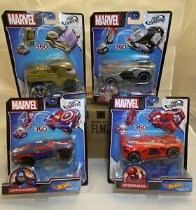 HOT WHEELS MARVEL FLIP FIGHTER CARS -  *4 CAR SUPER VALUE BUNDLE LOT *