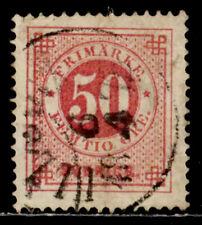 SWEDEN: 1872 19TH CENTURY CLASSIC ERA STAMP SCOTT #26 CV $50 SOUND