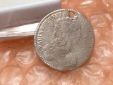 Maria Theresia 6 Kreuzer 1743 Hall Krone Silver Coin #BB