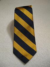 POLO Ralph Lauren Classic Tie 100% Silk NWT Navy/Gold Diagonal Stripes