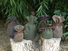 Three Pouch Set of Waxed Canvas Sami Style Pouch Bushcraft, Camping, Gaming