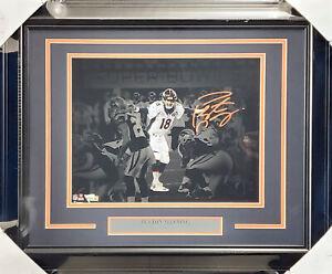 Peyton Manning Auto Framed 11x14 Photo Broncos Super Bowl 50 Fanatics A459017