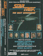 Star Trek: The Next Generation Tv Soundtrack Volume 3 Cassette Gnp New Sealed