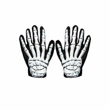 3D Skeleton Gloves Adults Halloween Fancy Dress Costume Accessory New