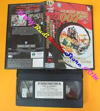 VHS film JAMES BOND 007 THUNDERBALL OPERAZIONE TUONO 1987 WARNER (F111) no dvd