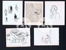 LE BATEAU LAVOIR Giacometti Braque Picasso Tanguy Ensor Duchamp 5 INVIT 50/60s