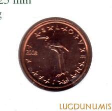 Slovénie 2008 - 1 Centime d'Euro 148000 exemplaires Provenant du coffret BU RARE