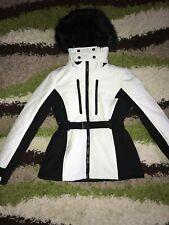 Ladies Size 16 Topshop Sno Ski Black And White Monochrome Jacket Coat Bnwt