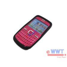 for Nokia C3-00 HQ New Black Silicon Silicone Skin Back Cover Soft Case ZJSC867