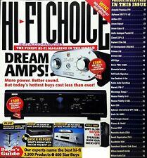 Hi-Fi Choice Pink Triangle ARCAM Naim Orelle holfi MARANTZ CLASSE audio analogico