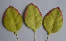 50 MOSS GREEN OBLONG ELLIPTICAL SHAPE (60mm) Mulberry Paper leaves for topper