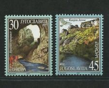 Vratna River Jerme Canyon Europa mnh set 2 stamps 2001 Yugoslavia #2522-3