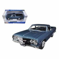 Maisto 1965 Chevy Chevrolet El Camino Special Ed Diecast Model Toy Car Blue 1:25