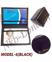Soft Leather Bus Pass Oyster Credit Card Travel Wallet Holder Coin Chain Pouch