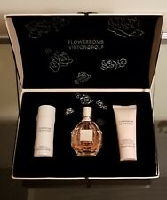 FLOWERBOMB By Viktor & Rolf 3 Piece Gift Set 1.7oz EDP Body Cream & Shower Gel