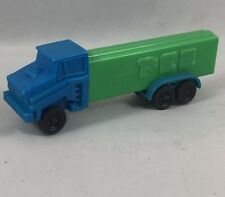 Vintage Truck Pez Dispenser No Feet Slovenia-Green w/ Blue Cab