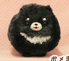 Pometan 6'' Black and White Pomeranian Dog Amuse Prize Plush